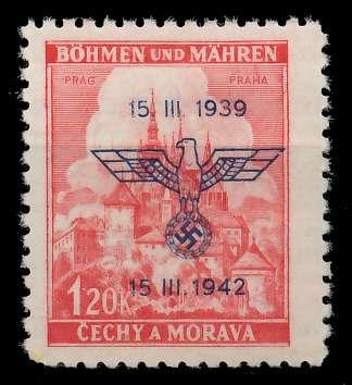 BÖHMEN MÄHREN 1942 Nr 83 postfrisch 887DE2