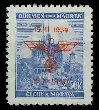 BÖHMEN MÄHREN 1942 Nr 84 postfrisch 889DA6