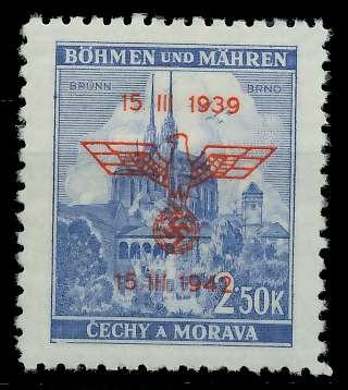 BÖHMEN MÄHREN 1942 Nr 84 postfrisch 889DAA