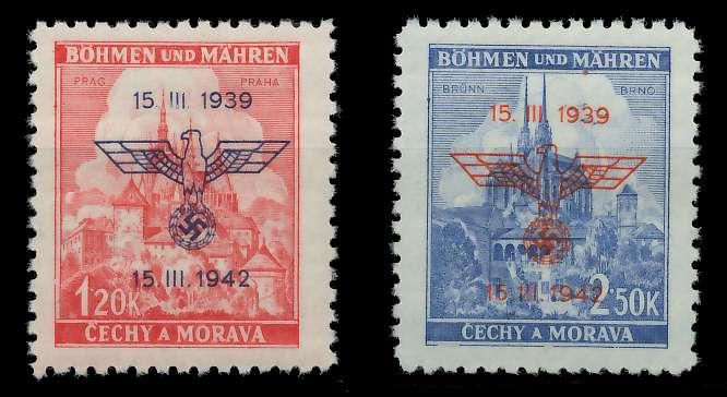 BÖHMEN MÄHREN 1942 Nr 83-84 postfrisch 889DB2