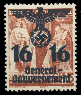 GENERALGOUVERNEMENT Nr 34a postfrisch 889E46