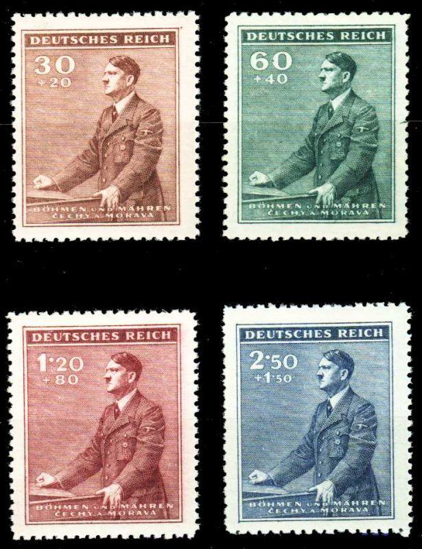 BÖHMEN MÄHREN 1942 Nr 85-88 postfrisch S83C776