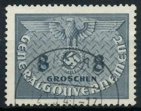 GENERALGOUVERNEMENT DIENST Nr 2 gestempelt 889F7E