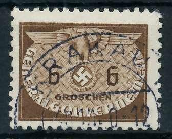 GENERALGOUVERNEMENT DIENST Nr 16 gestempelt 889F86