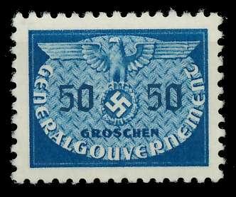 GENERALGOUVERNEMENT DIENST Nr 24 postfrisch 889F8A