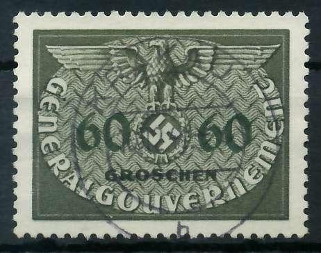GENERALGOUVERNEMENT DIENST Nr 11 zentrisch gestempelt 889F8E