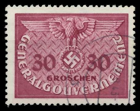 GENERALGOUVERNEMENT DIENST Nr 7 gestempelt 889F96