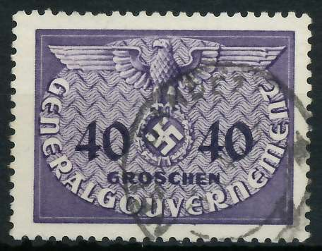 GENERALGOUVERNEMENT DIENST Nr 8 gestempelt 889FA6