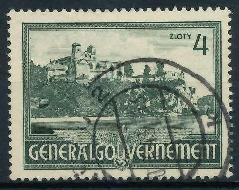 GENERALGOUVERNEMENT 1941 Nr 64 gestempelt 889FAA