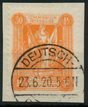 MARIENWERDER Nr 6xB gestempelt Briefst³ck 88A48A