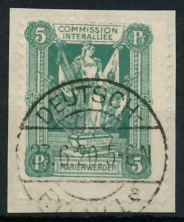 MARIENWERDER Nr 1xB gestempelt Briefst³ck 88A49A