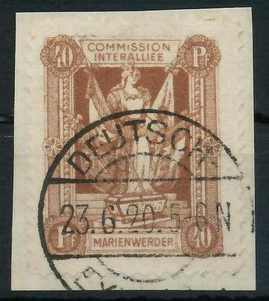 MARIENWERDER Nr 7xB gestempelt Briefst³ck 88A4A2