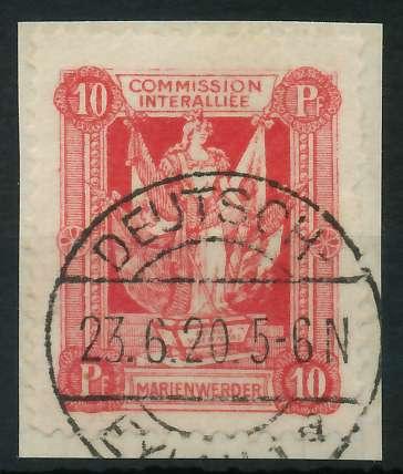 MARIENWERDER Nr 2xB gestempelt Briefst³ck 88A4A6