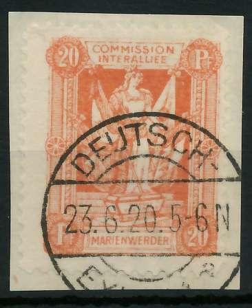 MARIENWERDER Nr 4xB gestempelt Briefst³ck 88A4B6