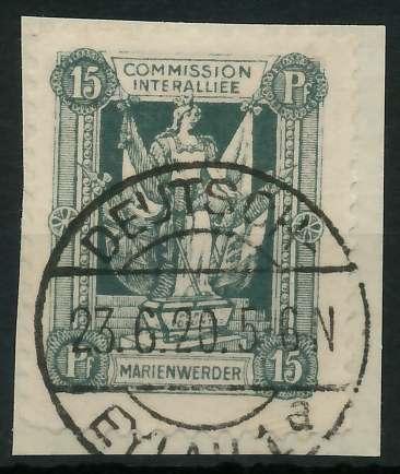 MARIENWERDER Nr 3xB gestempelt Briefst³ck 88A4BA
