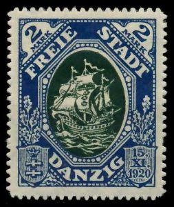 DANZIG 1921 Nr 59 ungebraucht 88D01A