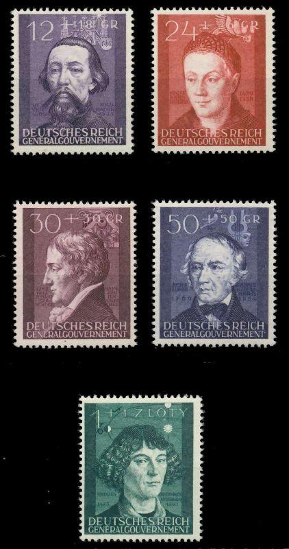 GENERALGOUVERNEMENT 1942 Nr 96-100 postfrisch 88FDEE