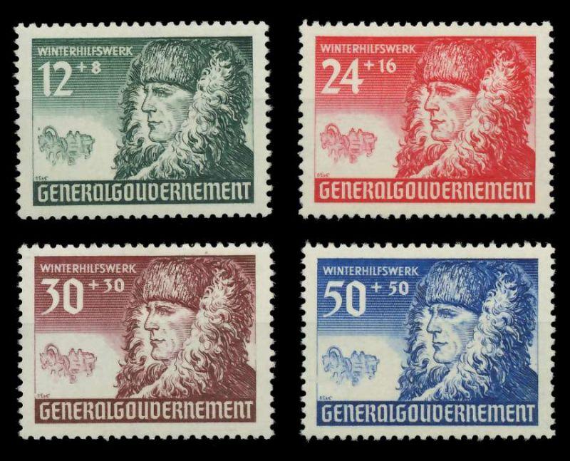 GENERALGOUVERNEMENT 1940 Nr 59-62 postfrisch 88FDF2