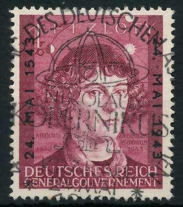 GENERALGOUVERNEMENT 1943 Nr 104 zentrisch gestempelt 88FDFA