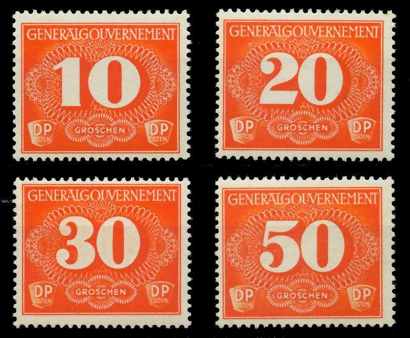 GENERALGOUVERNEMENT ZUSTM Nr 1-4 postfrisch 88FE12