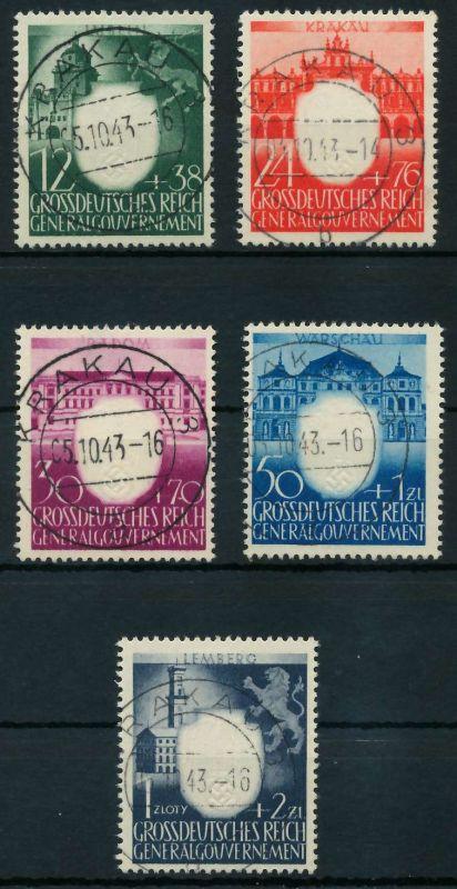 GENERALGOUVERNEMENT 1943 Nr 101-103 zentrisch gestempelt 88FE26
