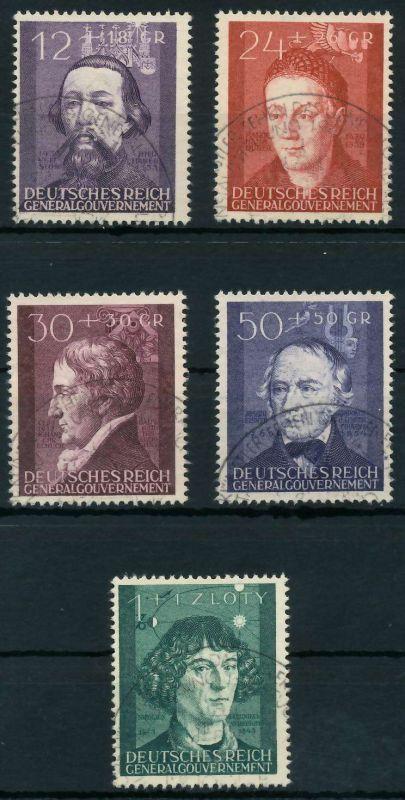 GENERALGOUVERNEMENT 1942 Nr 96-100 gestempelt 88FE2A