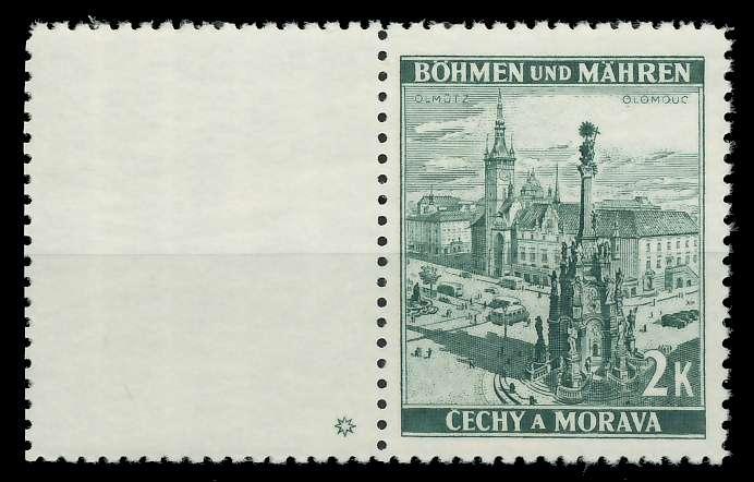 BÖHMEN MÄHREN 1939-1940 Nr 31LW PlSt1L postfrisch WAAGR 88FE2E
