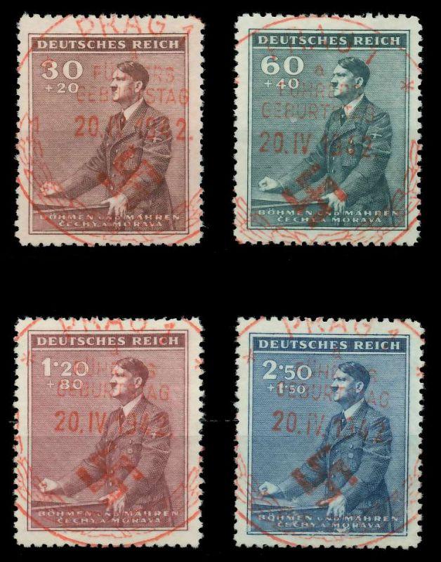 BÖHMEN MÄHREN 1942 Nr 85-88 zentrisch gestempelt 88FE36
