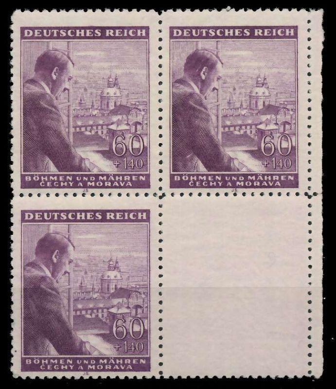 BÖHMEN MÄHREN 1943 Nr 126LS U postfrisch SENKR PAAR 88FE3E