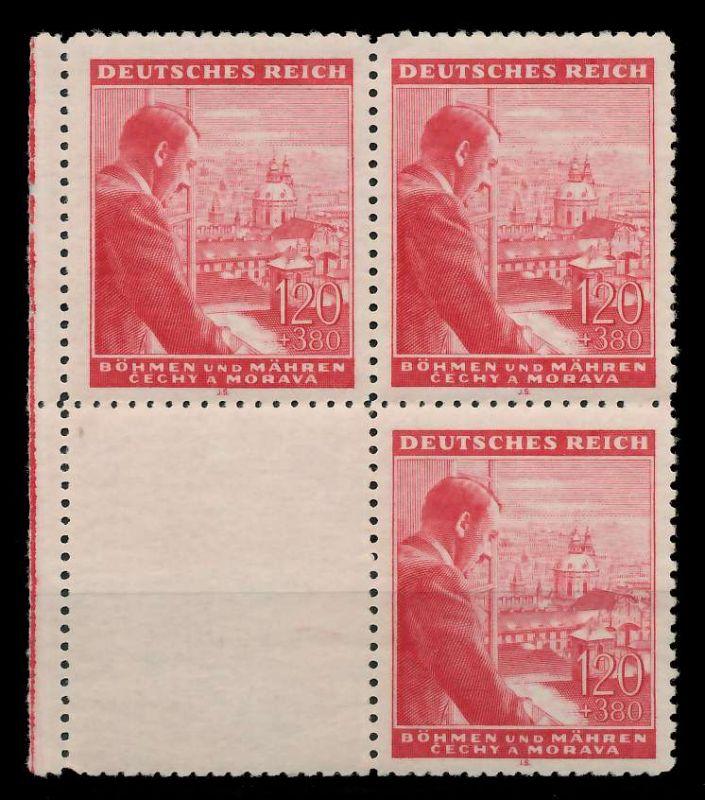 BÖHMEN MÄHREN 1943 Nr 127LS U postfrisch SENKR PAAR 88FE42
