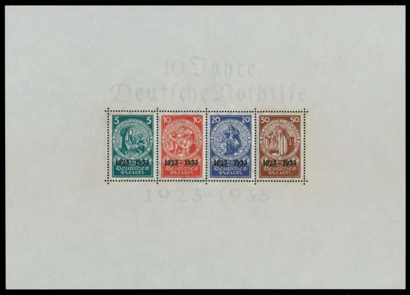 DEUTSCHES REICH 1933 Block 2 ungebraucht gepr. 891E8E