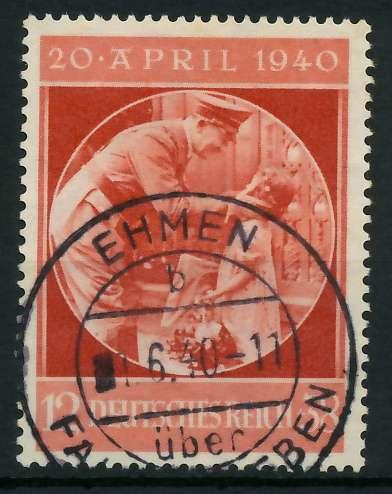 DEUTSCHES REICH 1940 Nr 744 zentrisch gestempelt 891EEE