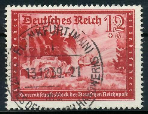 DEUTSCHES REICH 1939 Nr 708 zentrisch gestempelt 891F3E