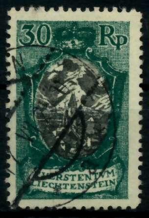 LIECHTENSTEIN 1921 Nr 55IB gestempelt 700122