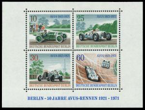 BERLIN BLOCK KLEINBOGEN Block 3 postfrisch S88B452