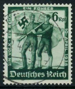 DEUTSCHES REICH 1938 Nr 662 zentrisch gestempelt 895DBA
