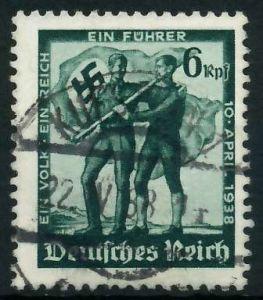 DEUTSCHES REICH 1938 Nr 663 zentrisch gestempelt 895DC6