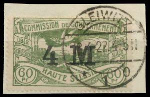 OBERSCHLESIEN Nr 41a zentrisch gestempelt Briefst³ck 895EB6