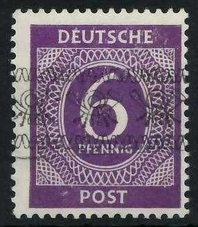 BIZONE BANDAUFDRUCK Nr V I postfrisch gepr. 895F02