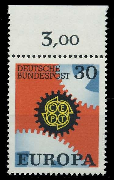 BRD 1967 Nr 534 postfrisch ORA 7F097A