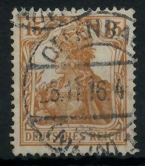 DEUTSCHES REICH 1900 18 GERMANIA Nr 100a gestempelt gepr 89905A