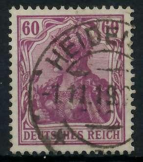 DEUTSCHES REICH 1900 18 GERMANIA Nr 92IIb gestempelt gep 89905E