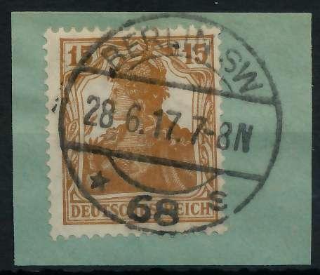 DEUTSCHES REICH 1900 18 GERMANIA Nr 100b gestempelt gepr 899062