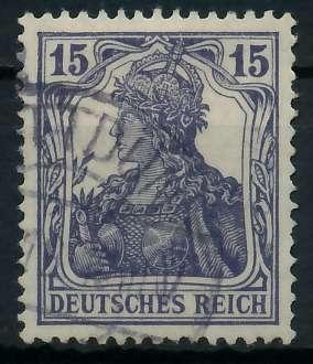 DEUTSCHES REICH 1900 18 GERMANIA Nr 101a gestempelt gepr 89906A