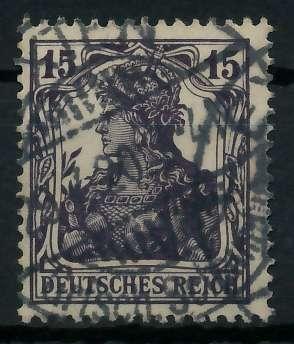 DEUTSCHES REICH 1900 18 GERMANIA Nr 101b gestempelt gepr 89906E