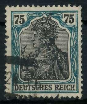 DEUTSCHES REICH 1900 18 GERMANIA Nr 104b gestempelt gepr 899076