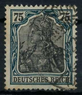 DEUTSCHES REICH 1900 18 GERMANIA Nr 104c gestempelt gepr 89907E