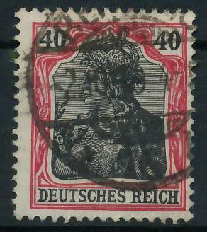 DEUTSCHES REICH 1900 18 GERMANIA Nr 90IIb gestempelt gep 89908A