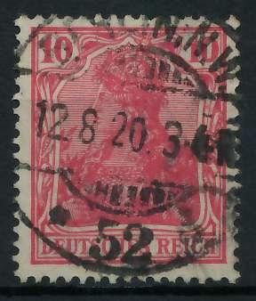 DEUTSCHES REICH 1900 18 GERMANIA Nr 86IIc ZENTR 899092