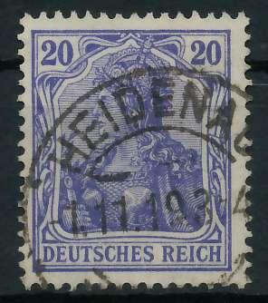DEUTSCHES REICH 1900 18 GERMANIA Nr 87IId gestempelt gep 899096